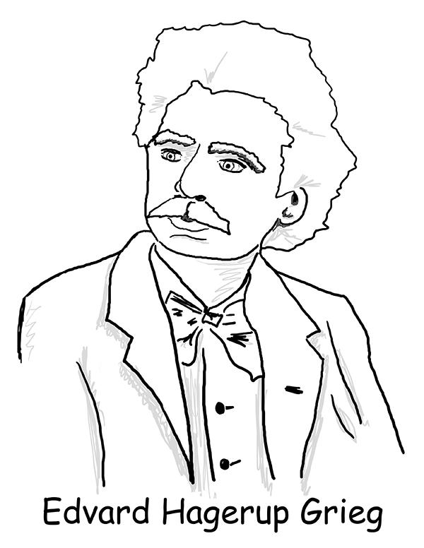 Ausmalbild Grieg