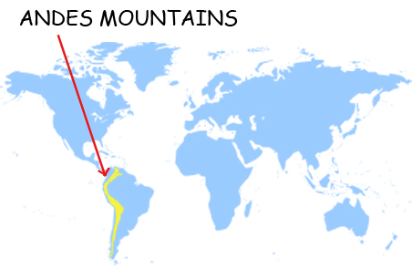 Andes Mountains World Map Do they play in the andes Andes Mountains Map