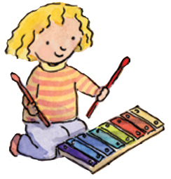 Picture of girl with xylophone