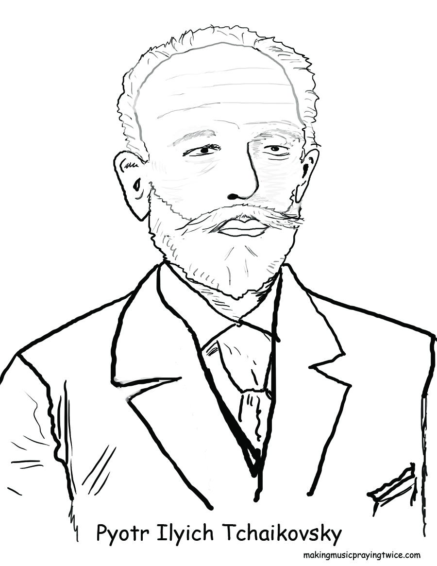 Clip Art The Nutcracker Coloring Pages tchaikovsky and the nutcracker ballet for kids coloring page pyotr tchaikovsky