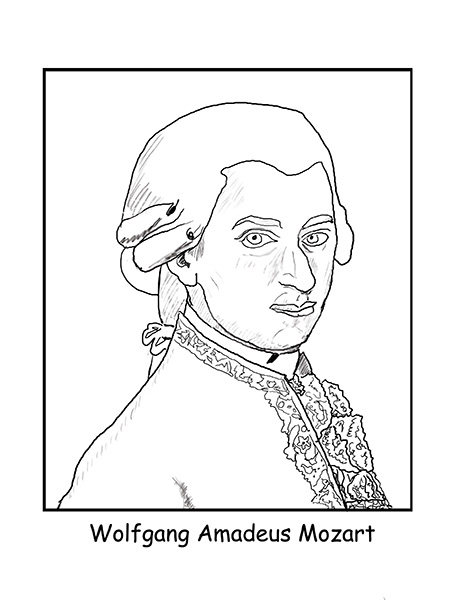mozart coloring pages