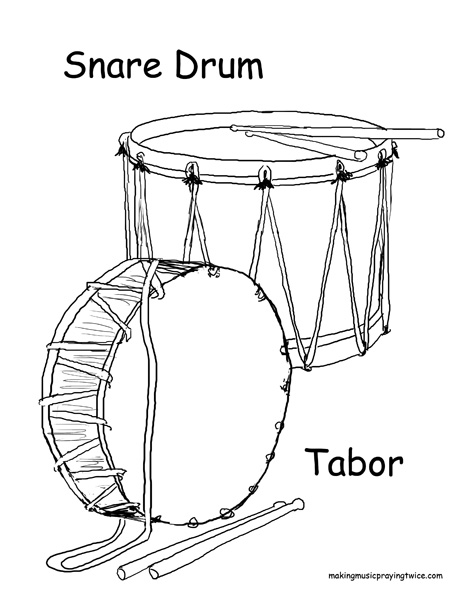 snare drums Colouring Pages