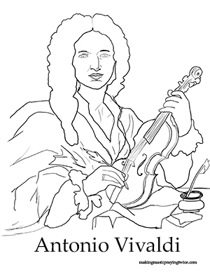 vivaldi coloring pages - photo#2